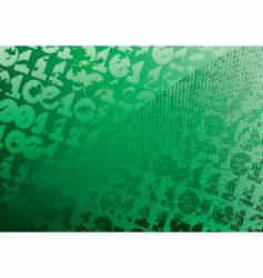 abstract green background digits grunge vector image vector image