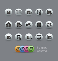 Books icons pearly series vector