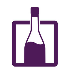 bottle wine drink alcohol image label vector image
