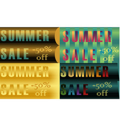 Cards with inscriptions for retail striped font vector