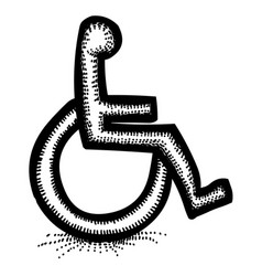 cartoon image of handicap icon accessibility vector image