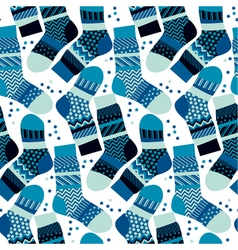 Christmas blue striped socks wrapping paper in vector