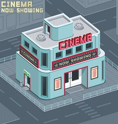 Cinema building vector image