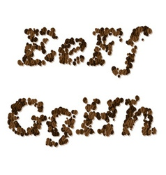 coffee seed font vector image vector image