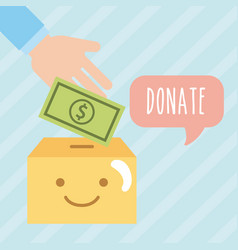 Donate children money vector