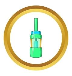 Electronic cigarette atomizer icon vector