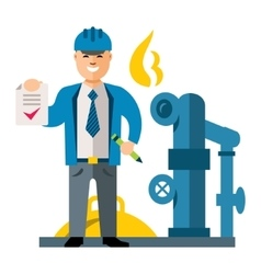 Gas manager flat style colorful cartoon vector