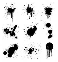 Grunge splash vector