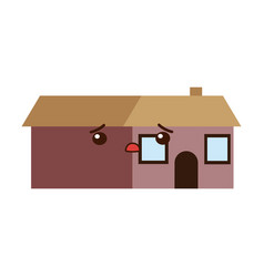 Kawaii house home residence architecture vector