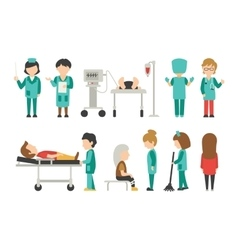 Medical staff flat isolated on white background vector