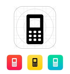 Mobile phone screen icon vector image vector image
