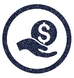 Money donation rounded grainy icon vector