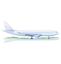 One airplane on ground vector