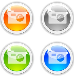 Photo buttons vector image vector image
