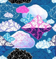 Seamless graphic pattern with abstract geometric vector image vector image