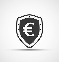 shield with shield and euro sign vector image
