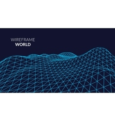 Wireframe Landscape Background Futuristic vector image