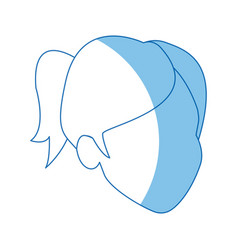 Woman avatar faceless character profile image vector