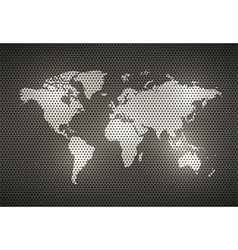 World Map Metal texture vector image vector image