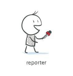 Reporter Interview vector image