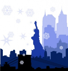 New york christmas vector