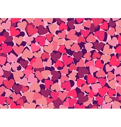 Valentines day seamless pattern with hearts vector