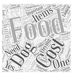 Cost of feeds word cloud concept vector