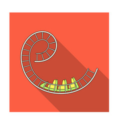 Roller coaster for children and adults dead loops vector