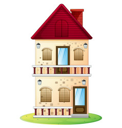 Two stories house with balcony vector