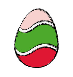 Happy easter egg decoration ornament festive vector