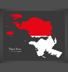 Papua barat indonesia map with indonesian vector