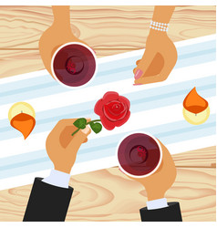 romantic lovers dating vector image