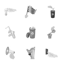 Musical instrument garbage and ecology electric vector