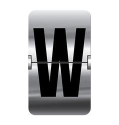 Alphabet silver flipboard letters w vector image