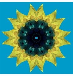 Sunflower crystal vector