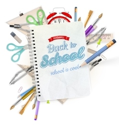 School stationery isolated eps 10 vector