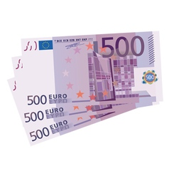 500 Euro bills vector image