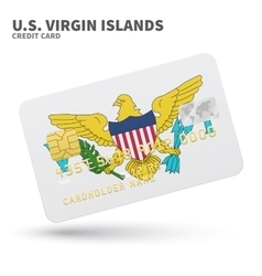 Credit card with us virgin islands flag vector