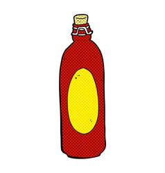 Comic cartoon traditional bottle vector