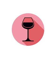 Sophisticated wine goblet stylish alcohol theme c vector