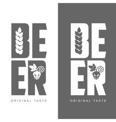 Simple logo with the words beer vector