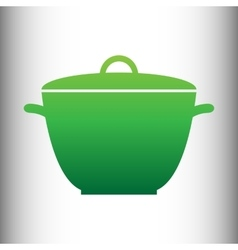 Saucepan simple icon vector