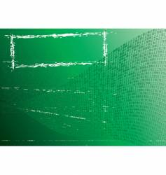 abstract green background label grunge vector image
