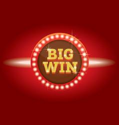 Big win neon banner vector