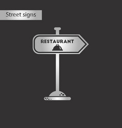 black and white style icon restaurant sign vector image vector image