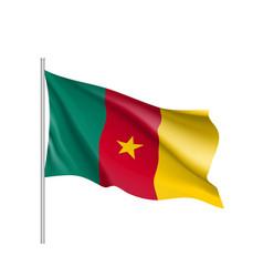 Cameroon realistic flag vector