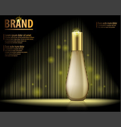 design cosmetics product advertising on dark vector image