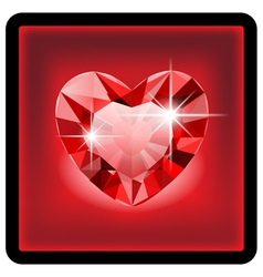 Diamond heart vector image