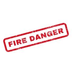 Fire danger text rubber stamp vector