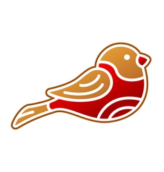 Gingerbread Bullfinch vector image vector image